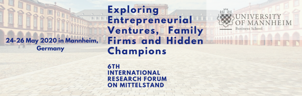 Exploring Entrepreneurial Ventures, Family Firms and Hidden Champions